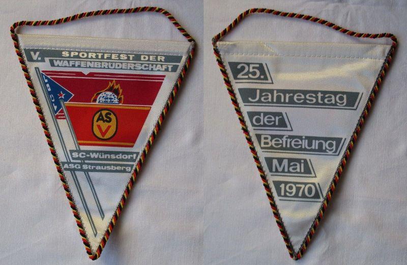 DDR Wimpel Sportfest der Waffenbrüderschaft SC-Wünsdorf ASG Strausberg (117046)