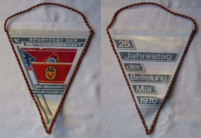 DDR Wimpel Sportfest der Waffenbrüderschaft SC-Wünsdorf ASG Strausberg (117744)