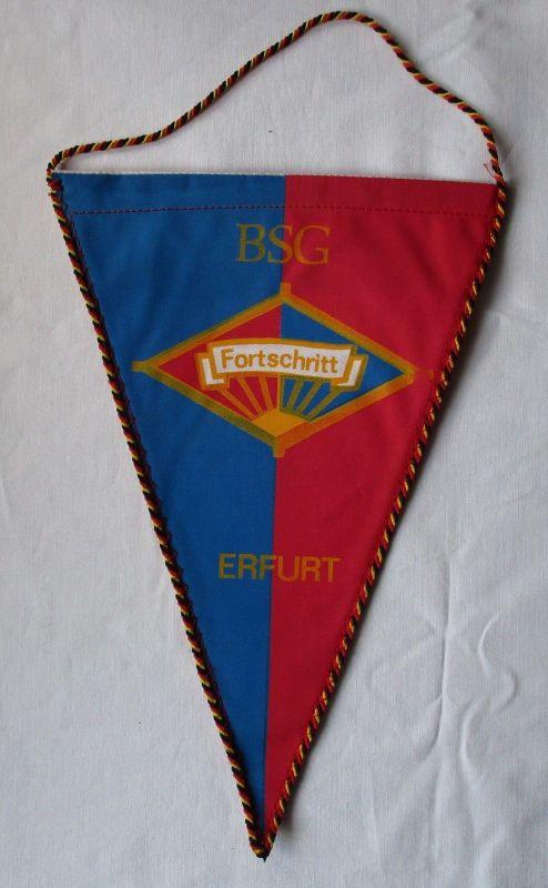 DDR Wimpel BSG Fortschritt Erfurt / 50 Jahre Gehörlosenkegelsport 1990 (114240) 0