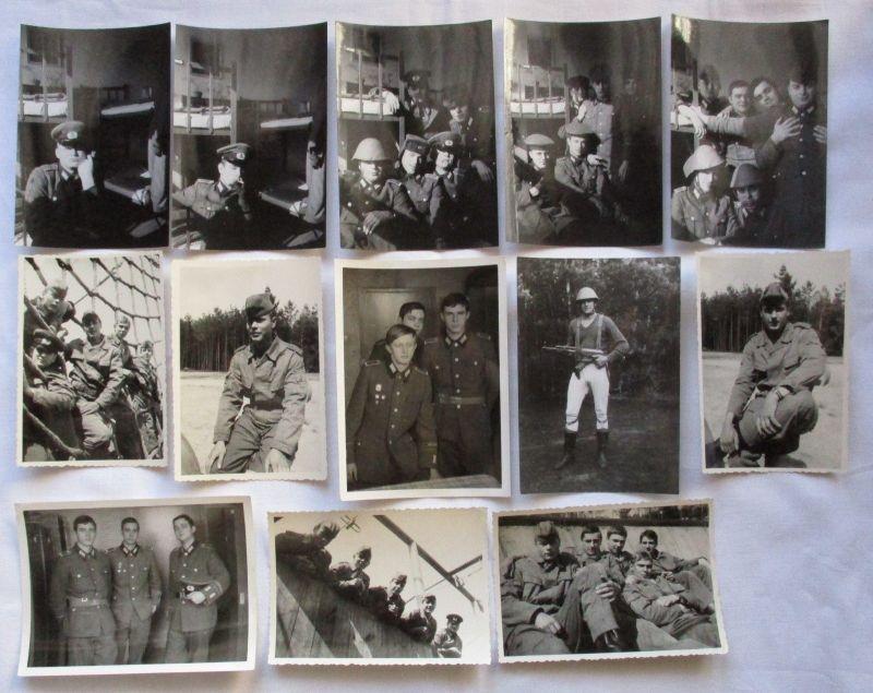 Konvolut aus 31 Original DDR NVA Aufnahmen, Scherzfotos der Soldaten (113863) 1