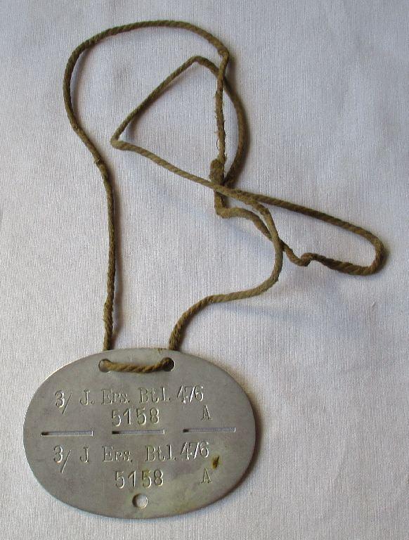 Erkennungsmarke 3.Infanterie Ersatz Bataillon 476, 2.Weltkrieg (121347)