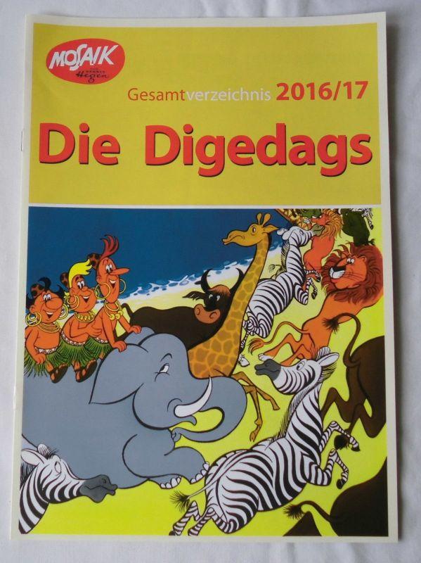 Mosaik Reklame Die Digedags Gesamtverzeichnis 2016/2017 A 4 Format (119107)
