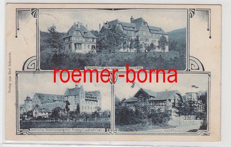 80931 Mehrbild Ak Römhild Sanatorium, Kriegerwaisenhaus, Waldhaus 1909