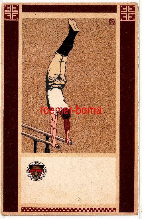 79756 Postkarte des Deutschen Schulvereines Nr. 103: Turner am Reck um 1910