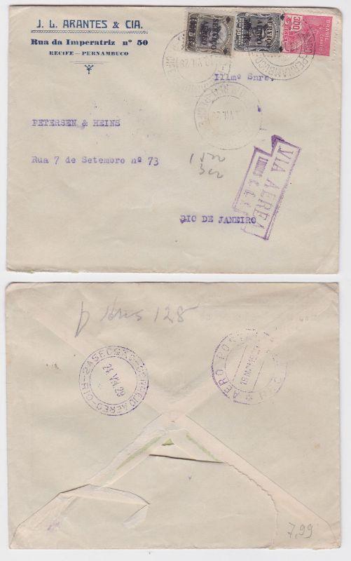 82437 seltener Luftpostbrief Brasilien Rio de Janeiro 1929