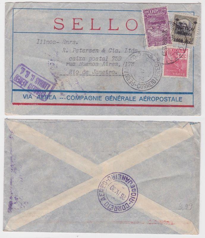 82556 seltener Luftpostbrief Brasilien Rio de Janeiro 1930