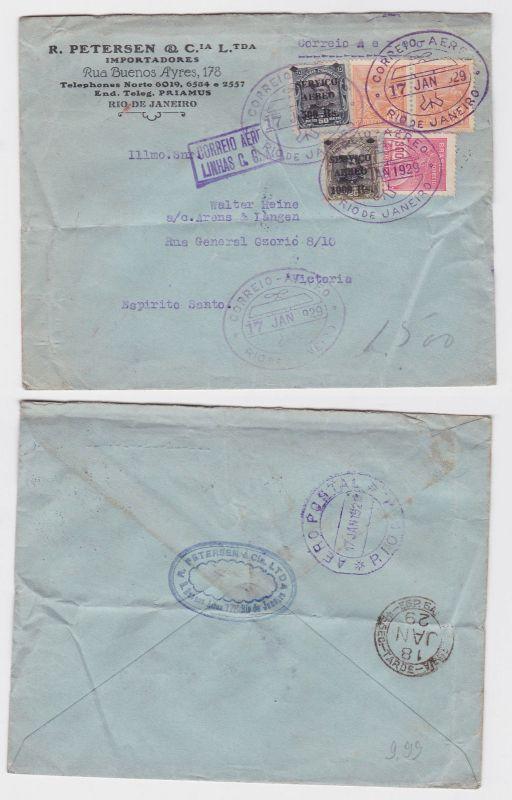 88489 seltener Luftpostbrief Brasilien Rio de Janeiro 1929