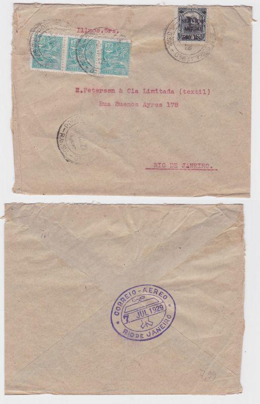 79970 seltener Luftpostbrief Brasilien Rio de Janeiro 1929