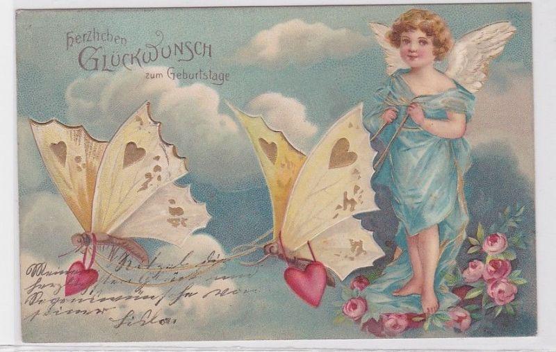 60989 Glückwunsch AK Herzlichen Glückwunsch zum Geburtstage 1905