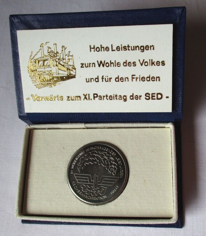 DDR Medaille für hervorragende Leistungen Reichsbahndirektion Halle (107632)