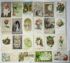 150 alte Postkarten Glückwunsch, Kitsch und Kunst um 1910