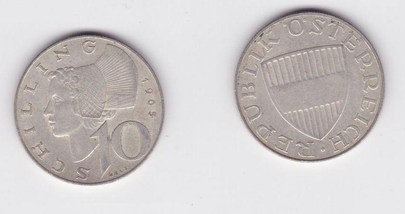 10 Schilling Silber Münze Österreich 1965 (120193)