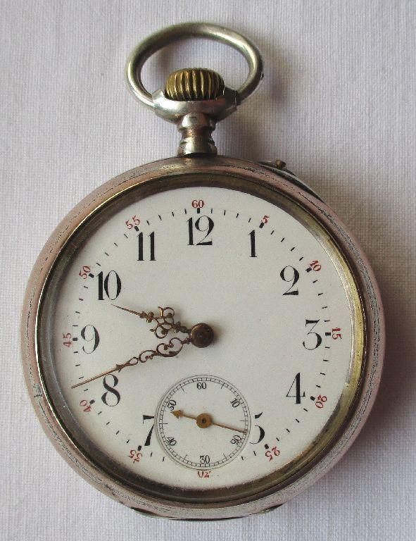0,800 Silber IWC Schaffhausen Taschenuhr Rosé Silber pocket watch (110307)