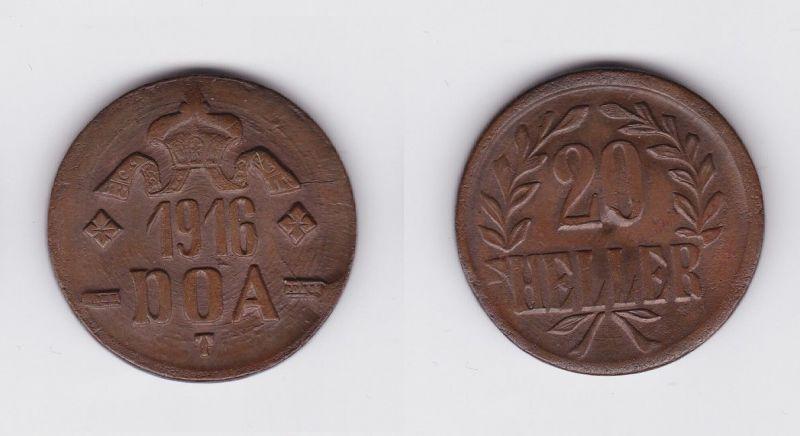 20 Heller Kupfer Münze Deutsch Ostafrika DOA 1916 J.727 a  (120169)