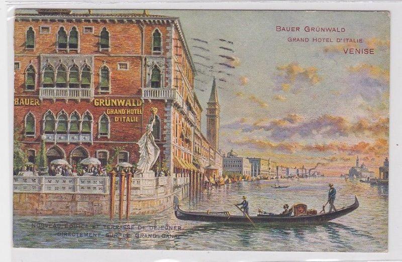 71361 AK Bauer Grünwald Grand Hotel D'Italie Venise, Kanal Grande Venedig 1925