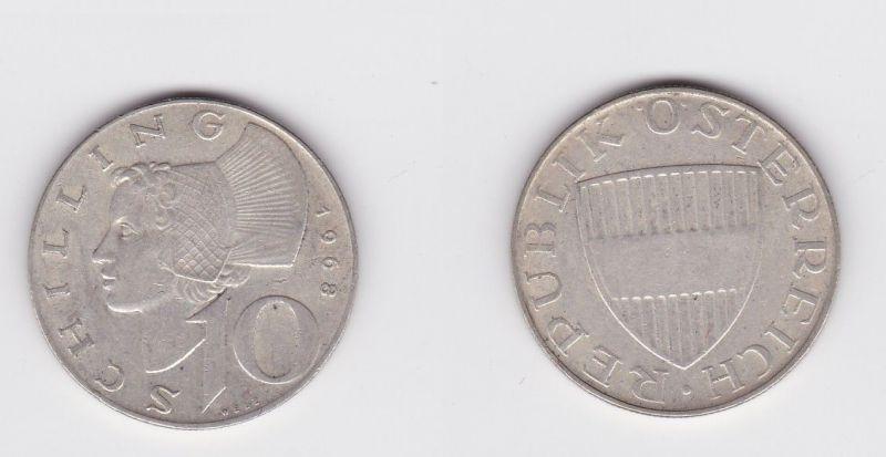 10 Schilling Silber Münze Österreich 1968(119451)
