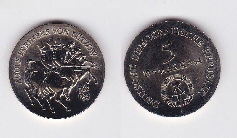 Ddr Gedenk Münze 5 Mark Adolph Freiherr Von Lützow 1984 119967 Nr