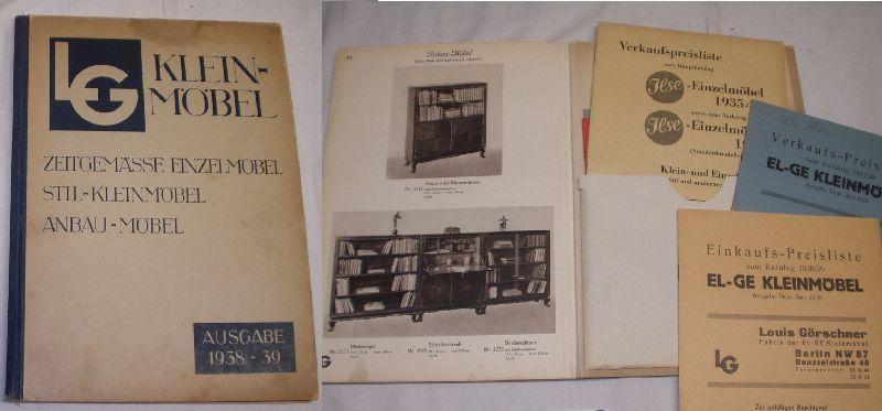 LG (El-Ge) Klein Moebel / Zeitgemaesse Einzelmoebel, Stil- Kleinmoebel, 1938/39