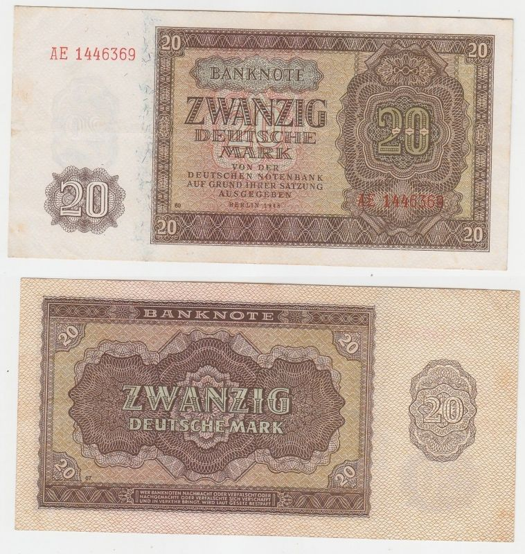 20 Mark Banknote Deutsche Notenbank DDR 1948 (112453)