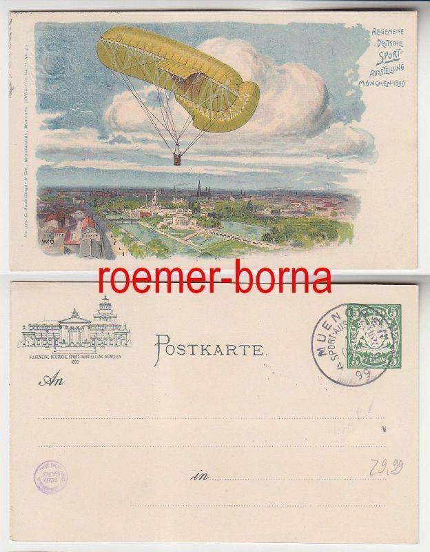 74258 Ak Ganzsache Allgemeine Deutsche Sport-Ausstellung München 1899