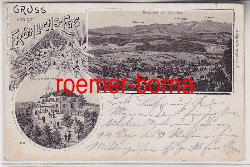 73010 Mehrbild Ak Gruss von der Fröhlichs-Egg Restaurant 1901