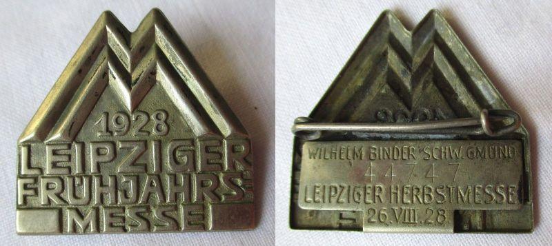 Blech Abzeichen Leipziger Frühjahrsmesse 1928 Einkäuferabzeichen (124901)