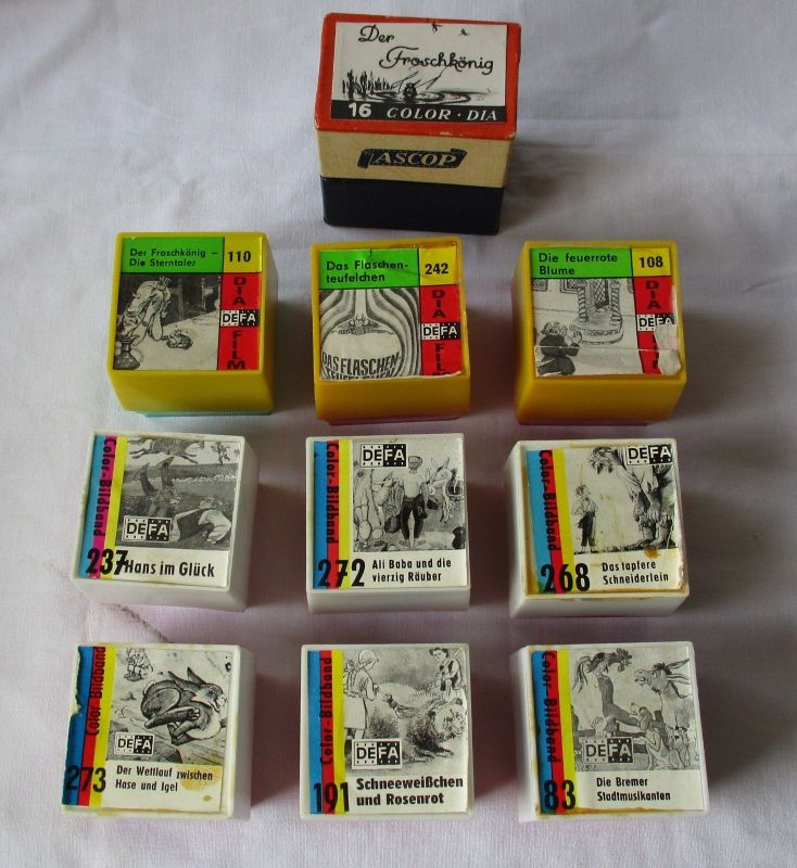 10 DIA FILME Pouva Magica DEFA Color-Bildband DDR Rollfilm Märchenfilme (117438)