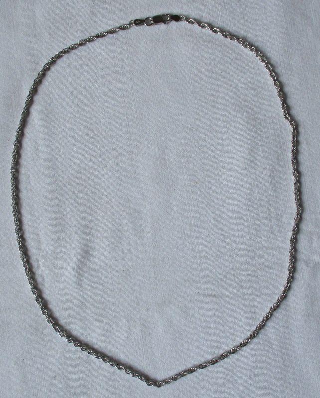 Hübsche 925er Sterling Silber Kette Länge 45 cm (118734)