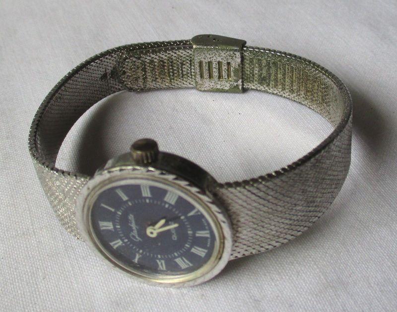 Quarz Damen Armbanduhr Marke Glashütte mit Metallarmband  (112648)