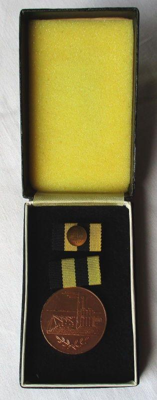DDR Verdienstmedaille in der Kohleindustrie der DDR Bronze im Etui (106891)