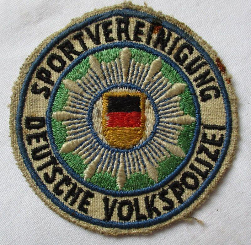 Alter DDR Aufnäher Sportvereinigung Deutsche Volkspolizei sehr selten (117936)