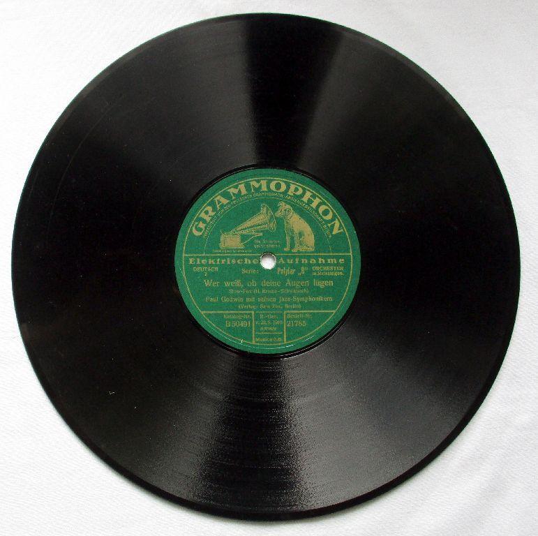 Grammophon Schellackplatte