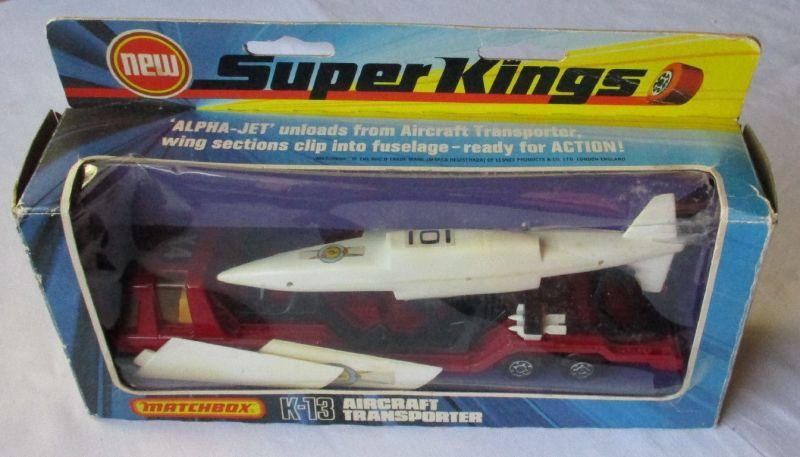 Original Matchbox Super Kings K-13 Aircraft Transporter mit OVP 1975 (124873)