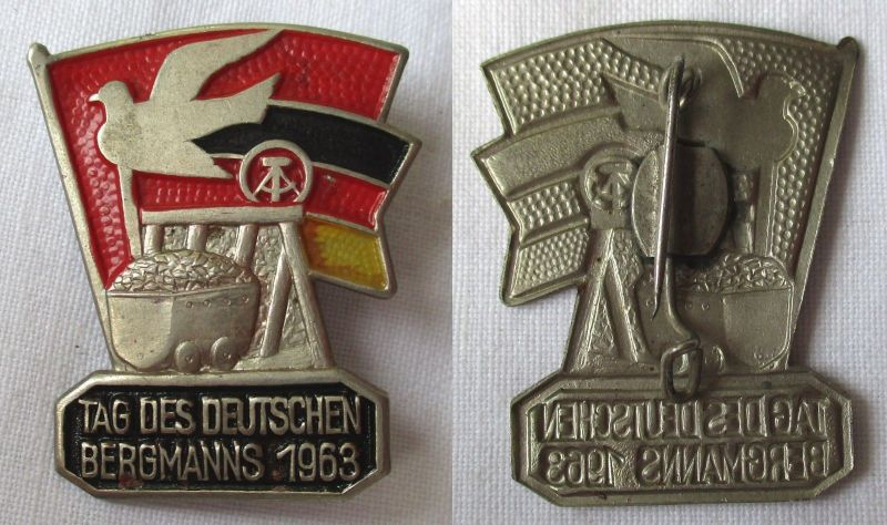 Seltenes DDR - Abzeichen Tag des deutschen Bergmanns 1963 (117349)