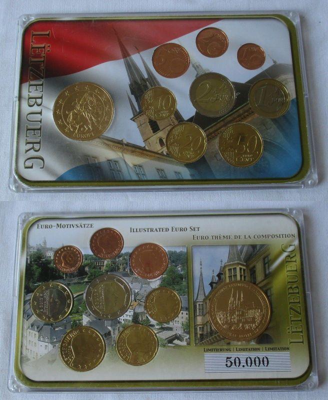 Luxemburg Prestige Set Specimen Euro Proben Satz in Hartplastikbox (124692)