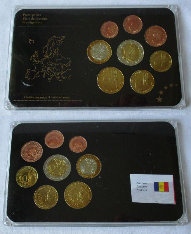 Andorra Prestige Set Specimen Euro Proben Satz in Hartplastikbox (124554)