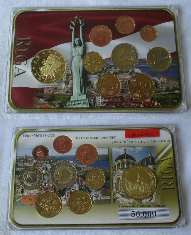 Lettland Kms Euro Premiumsatz 2014 Mit Sondermünze Euro Motivsatz Pp