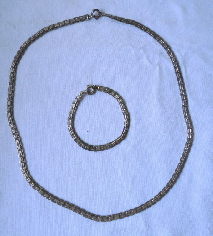 Dekorative Kette 47 cm Silber 835 mit Armband (116486)