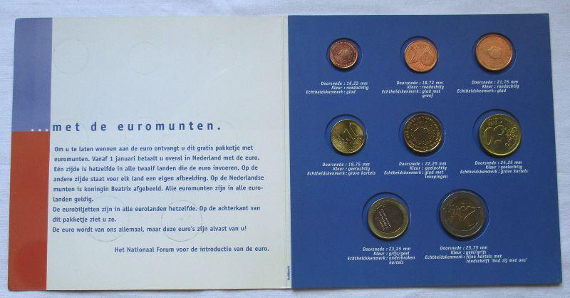 Euro Kursmünzsatz mit 8 Münzen Niederlande von 1 Cent bis 2 Euro (124844)