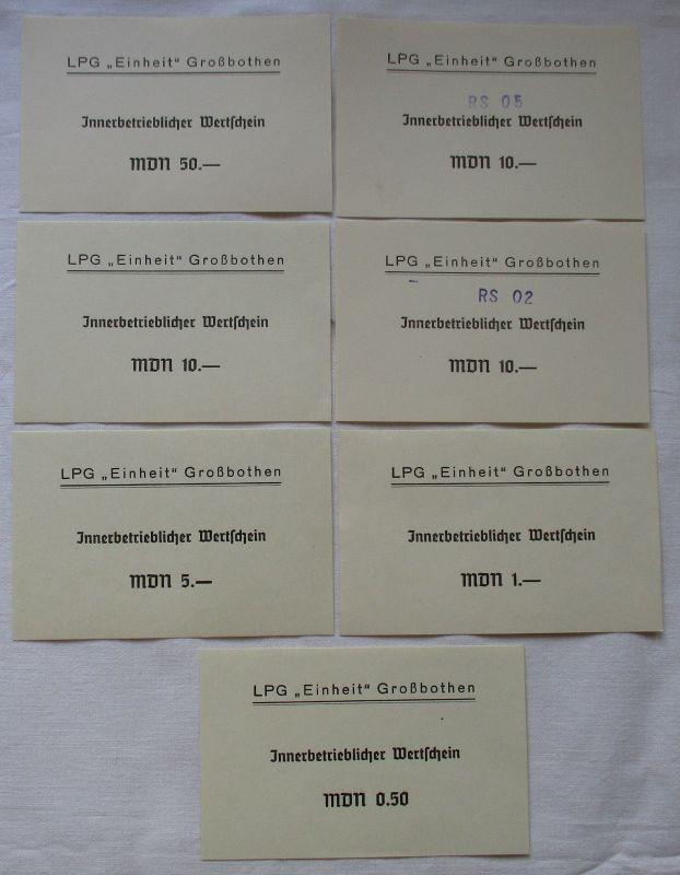 7 Banknoten DDR LPG