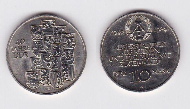 DDR Gedenk Münze 10 Mark 40.Jahrestag der DDR 1989 (121310)
