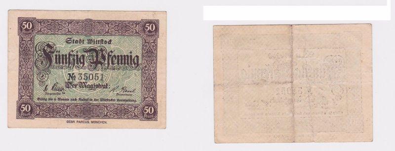 50 Pfennig Banknote Notgeld Stadt Wittstock ohne Datum (121230)
