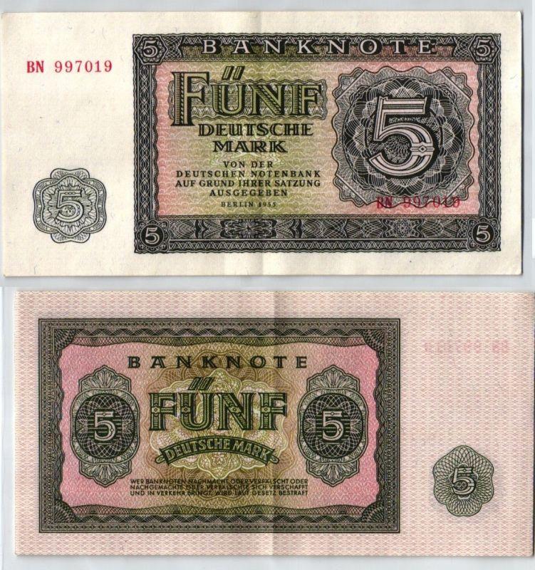 5 Mark Banknote DDR Deutsche Notenbank Berlin 1955 (120614)