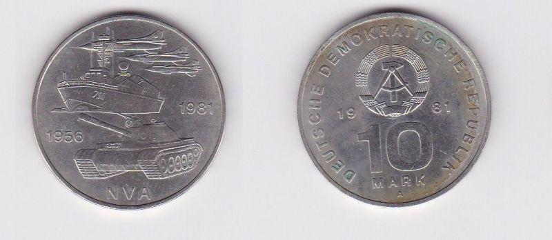 DDR Gedenk Münze 10 Mark 25 Jahre Nationale Volksarmee NVA 1981 (121212)