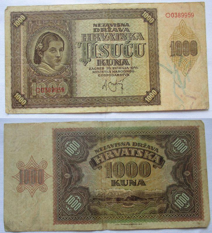 1000 Kuna Banknote Kroatien 1941 (122414)