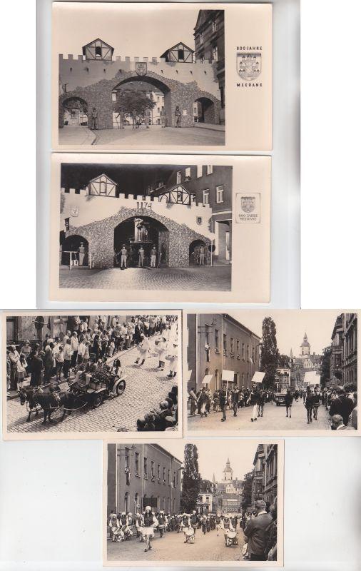 19589 / 5 große original  Fotos Meerane 800-Jahr-Feier 1974