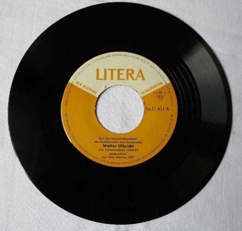 DDR Vinyl Walter Ulbricht Neujahrsbotschaft / Helle Köpfe - Heiße Herzen /106251