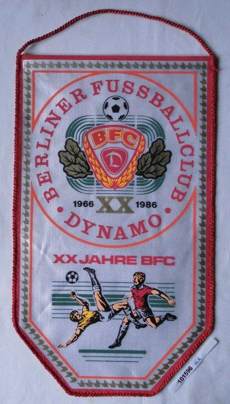 DDR Wimpel 20 Jahre BFC Berliner Fussballclub Dynamo 1966-1986 (101596)