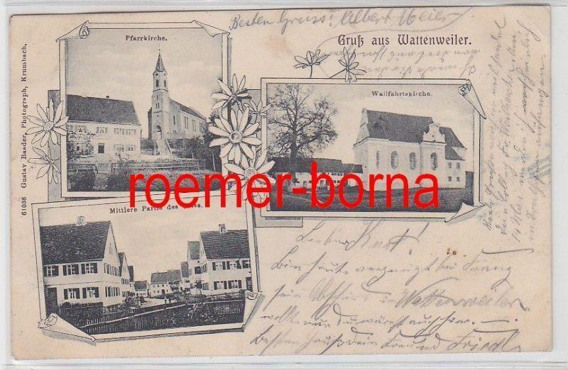 78075 Mehrbild Ak Gruß aus Wattenweiler 1903