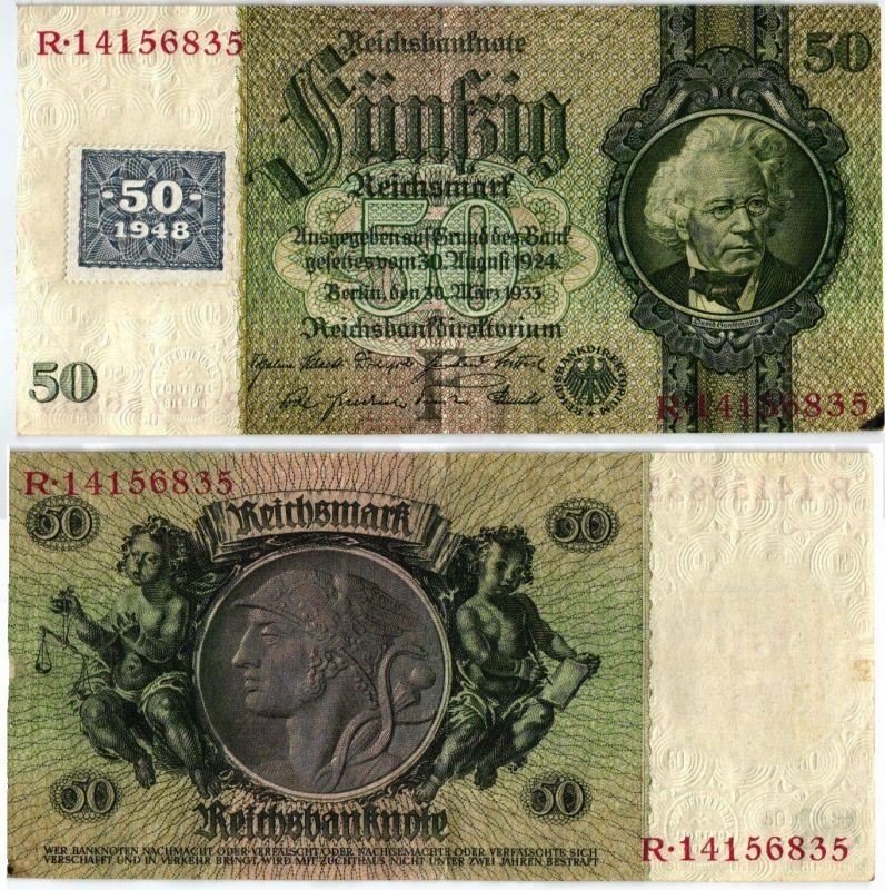 50 Mark Banknote DDR Deutsche Notenbank 1948 Kuponausgabe Ro.Nr.337 (107165)